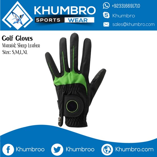 golf gloves black