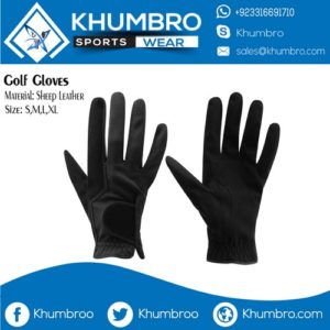 black leather golf gloves