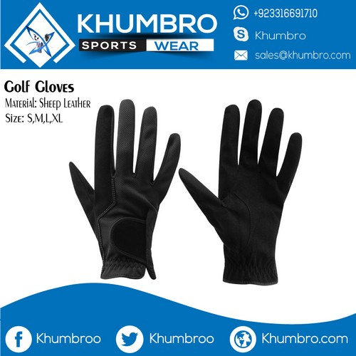 black leather golf gloves